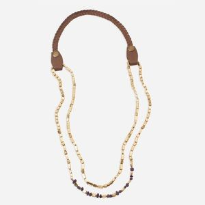 Noonday Collection Beaded Golden Rivers Necklace